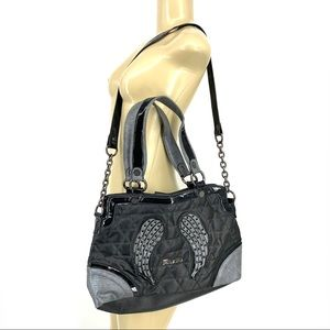 Miss me Women studded wings shoulder bag